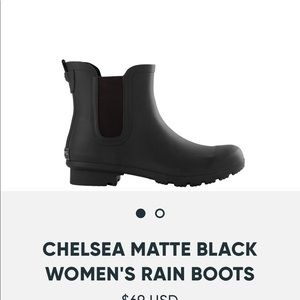 Black Rain Boot NIB
